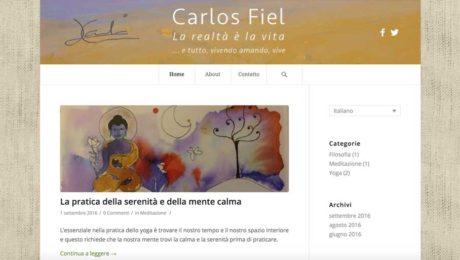Blog di Carlos Fiel, maestro di yoga e meditazione
